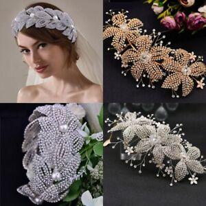 Women Headband with Rhinestone Crystal Luxury Hair Ornament for Wedding Party