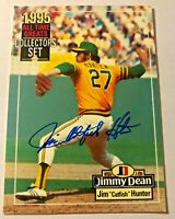 "JIM ""CATFISH"" HUNTER HOF AUTO W COA 1995 Jimmy Dean All-Time Greats #CAHU"