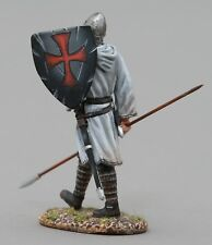 THOMAS GUNN MEDIEVAL KNIGHT MED005B CRUSADER WITH SPEAR DOWN BLACK SHIELD MIB