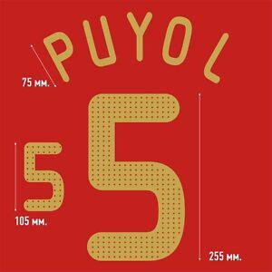 Puyol 5. Spain Home football shirt 2008 - 2009 FLEX NAMESET NAME SET