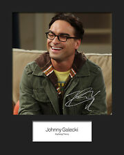 TBBT JOHNNY GALECKI #2 10x8 Mounted Signed Photo Print (Reprint) - FREE DEL