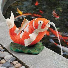 EU59307 - Kohaku Asian Koi Piped Spitter Statue/Water Fountain
