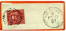 ITALIA - Regno - 1881 - Da Brignano Gera d'Adda/Bg - 10 c. - Effigie Umberto I