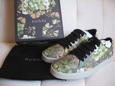 GUCCI MENS BLOOMS GG GUCCISSIMA DESIGNER SNEAKERS US 9 NIB W/DUST BAG 100% AUTH