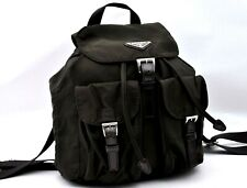 Authentic PRADA Nylon Backpack Brown A2106