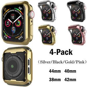 4 Pack Full Body Case For Apple Watch Series SE/6/5/4/3/2/1 44MM 40MM 42MM 38MM