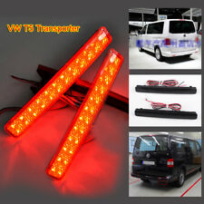 RED LED Rear Bumper Brake Tail Stop Light Lamps Reflector for VW T5 Transporter
