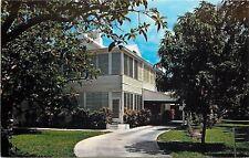 Key West Florida~Naval Station~Little White House~Carport 1960 Postcard