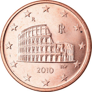 [#791203] Italie, 5 Euro Cent, 2010, SPL, Copper Plated Steel, KM:212