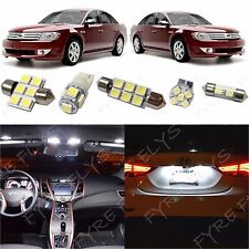 6x White LED lights interior package kit for 2008-2009 Ford Taurus FT1W