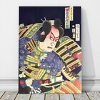 "Japanese Kabuki Pop Art from 1800's CANVAS PRINT 18x12"" Actor ~ Kunichika"
