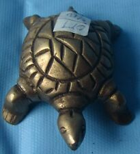 Small Unique Solid Brass Metal Turtle Statue Paper Weight Table Top Decor India