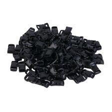 100 pcs 3/8'' Contoured Curved Side Release Buckles for Paracord Bracelet EW