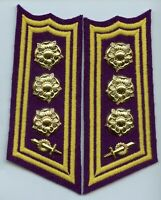 Finland Army SA Signals & Communications Colonel Engineer Collar Tabs