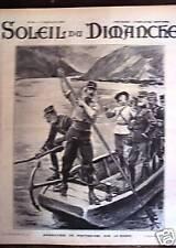 SOLEIL DU DIMANCHE 1905 N 38 MANOEUVRES DES PONTONNIERS