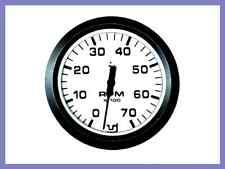 CONTAGIRI  BICOLORE CORNICE NERA SFONDO BIANCO 12 V RPM  0 - 8000 NAUTICA BARCHE
