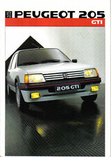 Peugeot 205 GTi 1.6 1985-86 Original Swedish Sales Brochure Pub No 1C406
