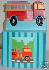 Wooden Fire Engine Coin Banks