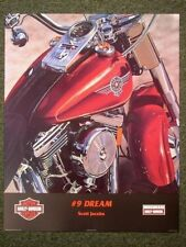 NO.9 DREAM Harley Davidson Motorcycle Scott Jacobs Poster