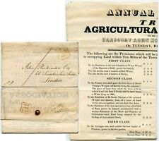 More details for gb 1841 tring show poster farmers cottagers maid servants shepherds competitions