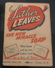 Lather Leaves Vintage Miracle Paper Soap - General Soap Co Chicago