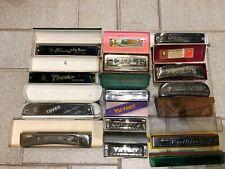 13 alte  Mundharmonikas ....