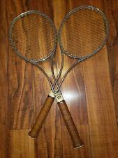 "Two Wilson T2000 Tennis Racquets 41/2"" Steel Vintage"
