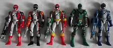 5 POWER RANGERS  / OPERATION OVERDRIVE RANGERS  WITH WEAPONS BANDAI 2005-6