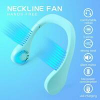 Portable 2 In 1 Neck Fan Electric Mini Fan with Light T8I4 USB Charging F2G3