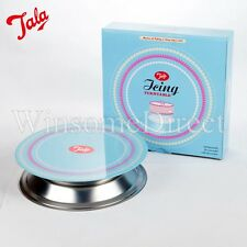 23cm Steel Icing Turntable Cake Decorating Rotating Revolving Stand Kitchen Bake