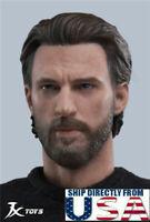 1/6 Captain America Head Sculpt Avengers Endgame For Hot Toys Male Figure U.S.A.