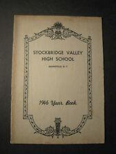 1946 Stockbridge Valley High School YEARBOOK Munnsville, New York