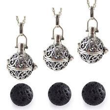 Pendant Necklace - Lava Stone 3Pcs/Pack Essential Oil Diffuser Openable Locket