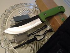 Elk Ridge Bushcraft Survival Hunter Dagger Bowie Knife Fire Starter Set Green 55