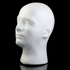 White Male Mannequin Styrofoam Foam Manikin Head Model Wig Glass Hat Display
