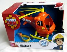FIREMAN SAM PUSH ALONG WALLABY RESCUE HELICOPTER - BRAND NEW & BOXED AS IMAGE!!