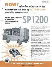 Equipment Brochure - Gardner-Denver - SP1200 - Air Compressor - c1963 (E3569)
