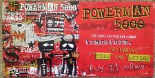 """Lot of 5 New POWERMAN 5000 Posters """"Transform"""" Double-Sided Promotional 2003"""