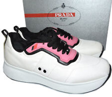 Prada Linea Rossa Runner Black & White Pink Sneakers 39 Flat Shoes