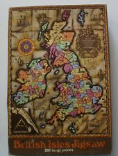 British Isles Map - 300 Piece Jigsaw Puzzle - Rare, Vintage - from the UK