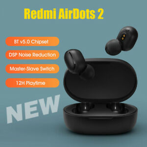 NUOVO Redmi AirDots 2 Auricolari BT v5.0 Abbinamento automatico rapido DSP