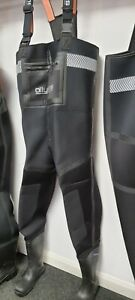 4mm Neoprene Chest Wader, Size 5 NORA Safety Toe Wellington
