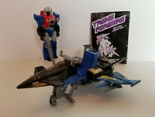 Starscream Action Master 1990 G1 Transformers Action Figure With Turbo Jet