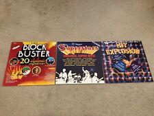 New listing Lot of 3 LP K-Tel Block Buster 1976 Hit Explosion 1983 Ronco Superstars 1978