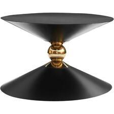 Meridian Furniture Malia Black and Gold Metal Hourglass Shaped Coffee Table