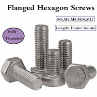 M5 M6 M8 M10 M12 Stainless Steel Flanged Hex Head Bolts Flange Hexagon Screws