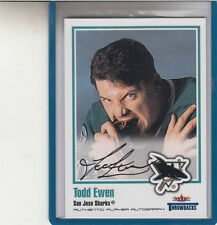 2002-03 FLEER GREATS OF THE GAME  THROWBACKS TODD EWEN  AUTOGRAPH AUTO