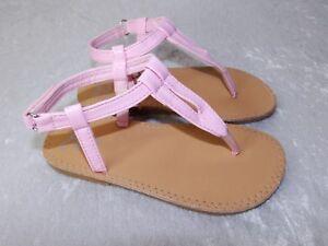 Stepping Stones Girls Kids Thong Sandal size 9 Pink