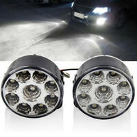 2x Car Circle White 9LED DC12V Front Driving Fog Light Running Lamp Universal