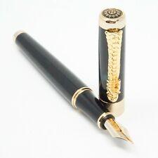 More details for jinhao 1200 dragon deluxe black fountain pen fine, med, broad or flex nib - uk!